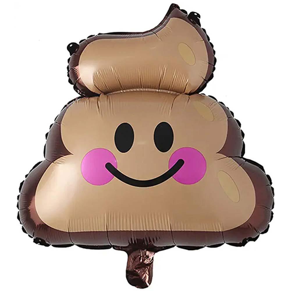Poop emoji balloons