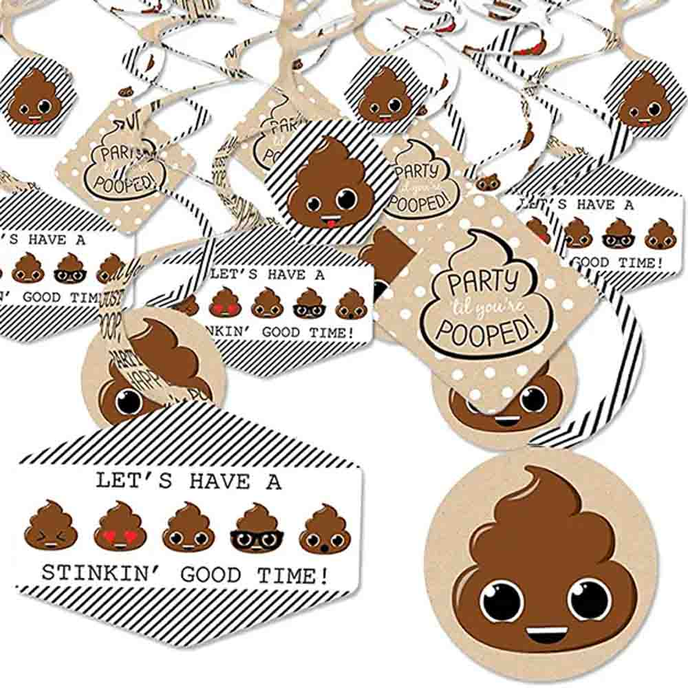 Poop emoji party decorations