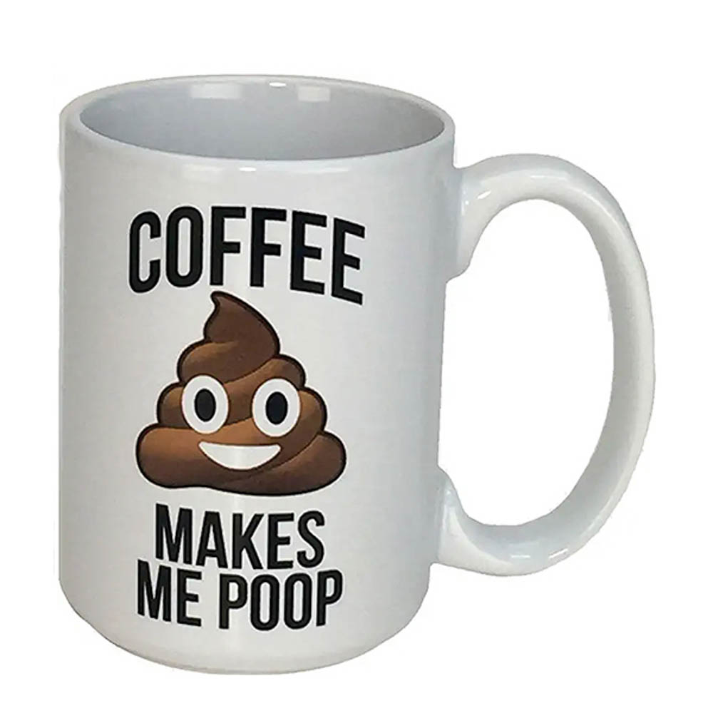 Poop emoji mugs