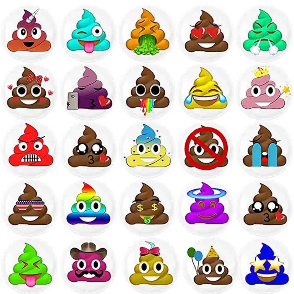 Poop emoji stickers
